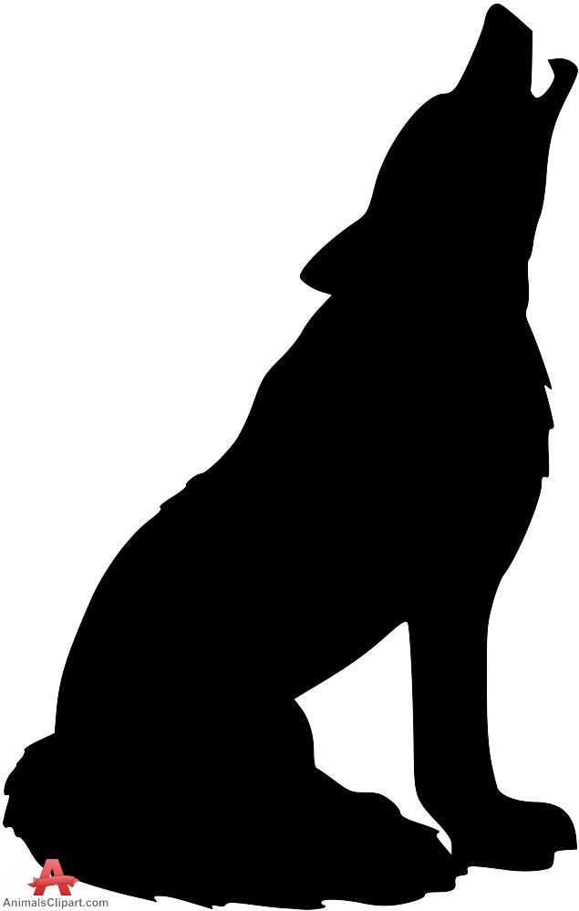 Howling Wolf Silhouette Clipart | Free Clipart Design Download - ClipArt Best - ClipArt Best