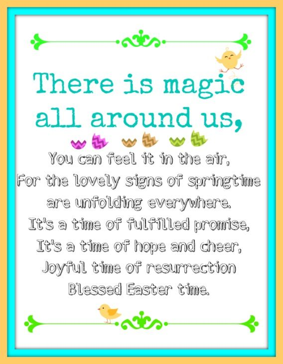 Easter blessing printable, and more!