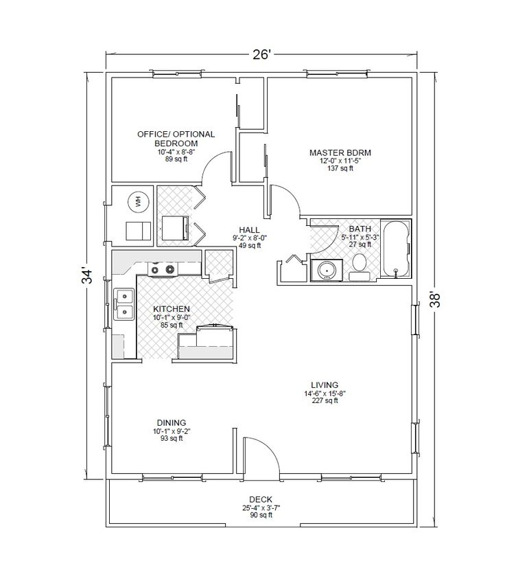 Detached Two Car Garage With Casita Floor Plan