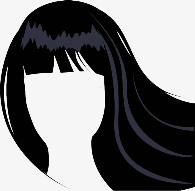Vector Lady Hair Bangs Lady Clipart Ms Hair Line Ladies Long Hair Png Transparent Image And Clipart For Free Download Hairstyles With Bangs Hair Png Hair Vector