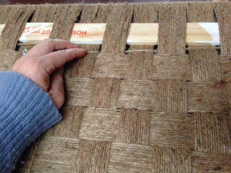 Rustic DIY Woven Bench Transformation - Refresh Living