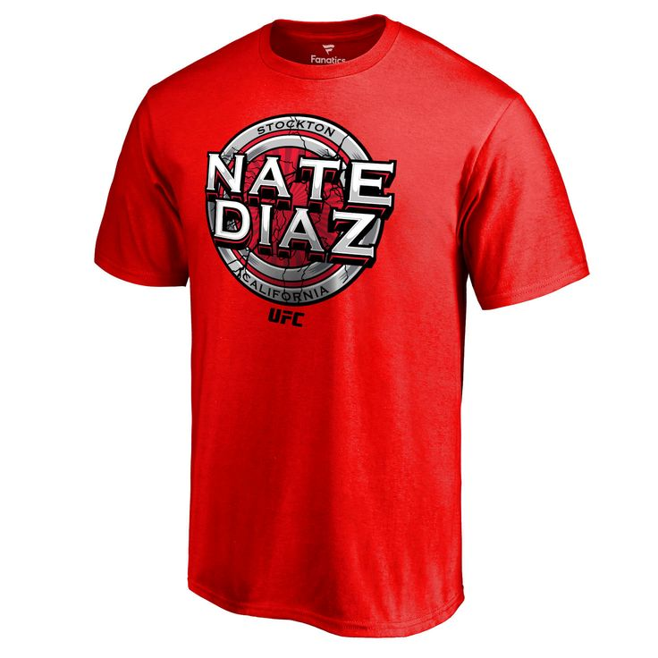 Nate Diaz UFC Cracked T-Shirt - Red - $24.99