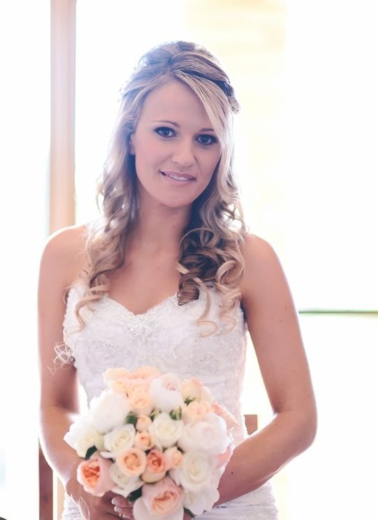 Soft romantic curls for a beautiful Bride by Total Brides hair & makeup