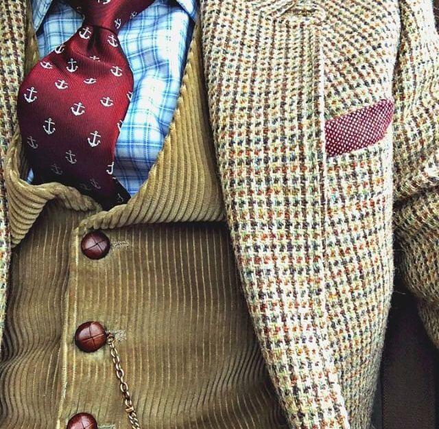 Chrysale possible de trouver une veste à motif en friperie ou aux puces. Connotation bien datée!