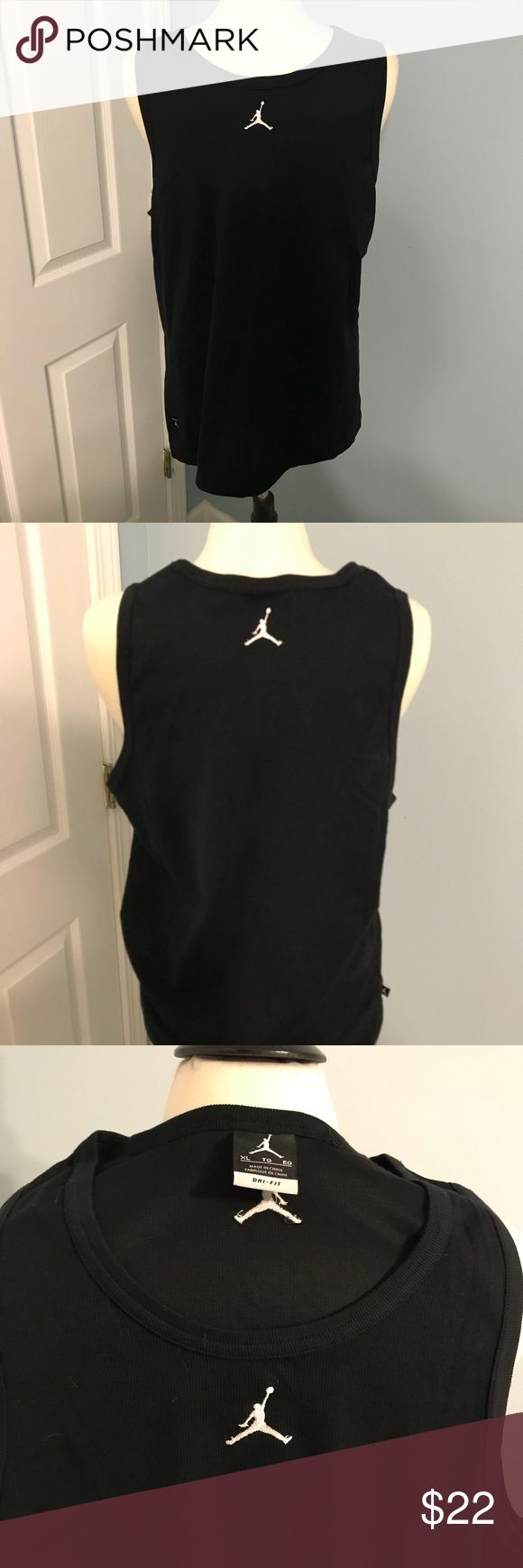 Jordan Jumpman black tank XL NWOT! Excellent condition. Check out my other listings for NWT red and white Jordan tanks and bundle for a discount. Jordan Shirts Tank Tops