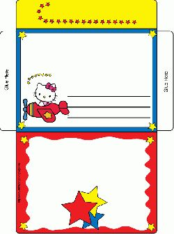 Hello Kitty Letter Envelope, Hello Kitty, Invitations - Free Printable Ideas from Family Shoppingbag.com