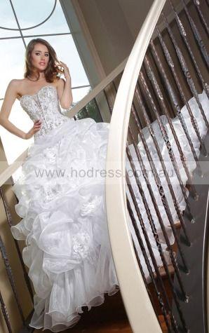 Ball Gown Sweetheart Natural Sleeveless Floor-length Wedding Dresses wbs0064