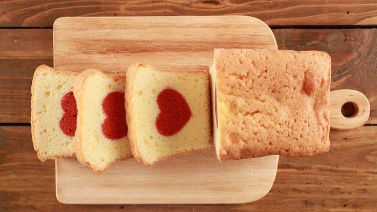 【バレンタインに】切っても切ってもハート♪なパウンドケーキの秘密を動画で公開! | クックパッドニュース