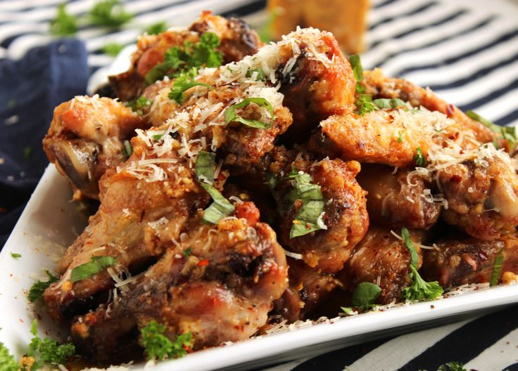 Baked Garlic Parmesan Wings | The Suburban Soapbox
