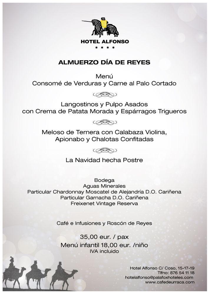 Menú de Reyes 2017 Café de urraca
