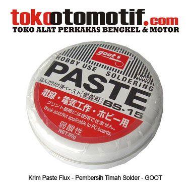 Kode : 26000000116 Nama : Soldering Paste flux Cream Merk : GOOT Tipe : BS-15 Status : Siap Berat Kirim : 1 kg