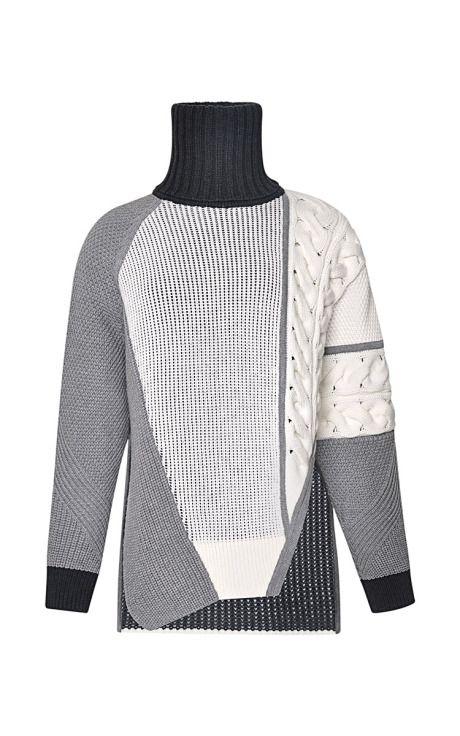 Asymmetric Intarsia-Knit Sweater by Prabal Gurung - Moda Operandi