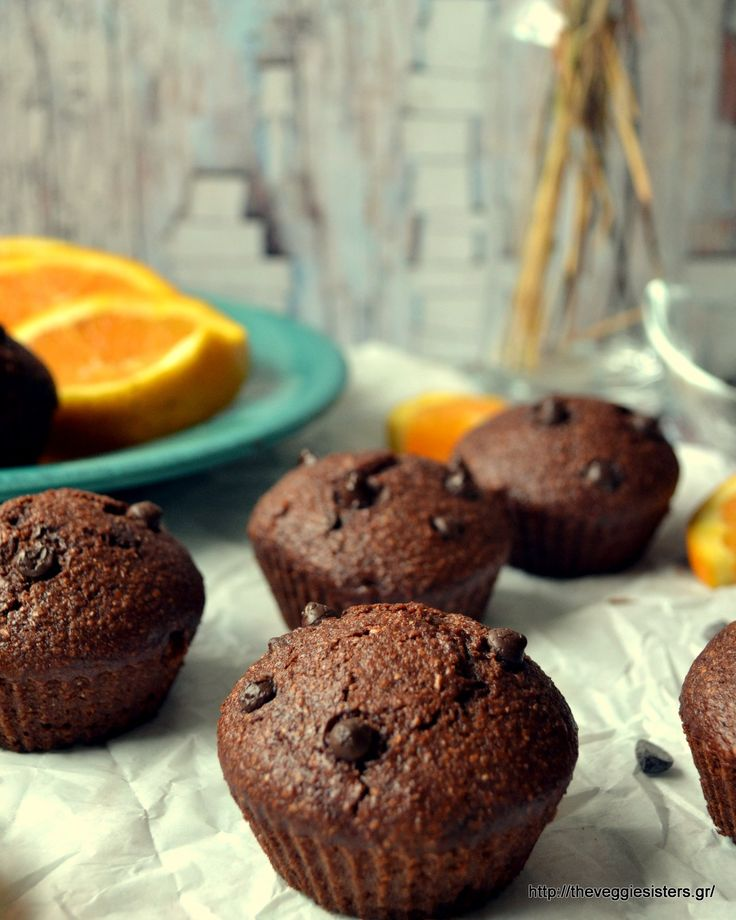 Easy vegan chocolate orange muffins!