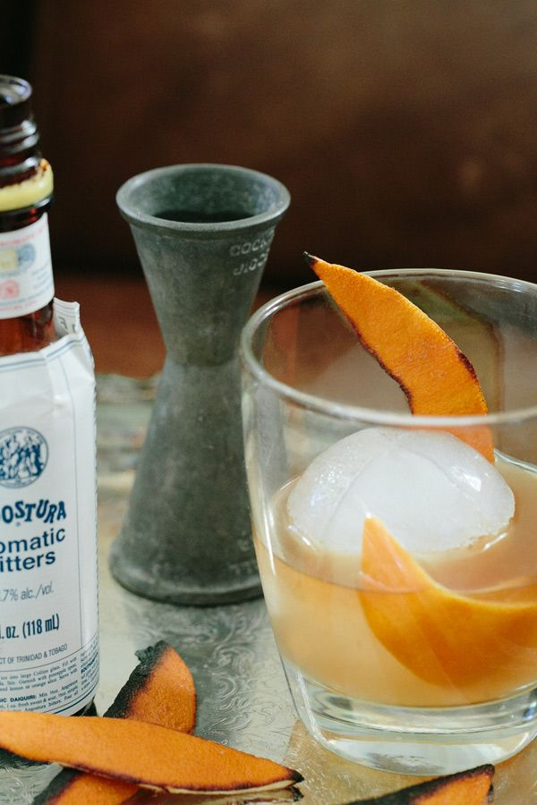 Burnt Orange Old Fashioned Cocktail Recipe | The old, Bourbon whiskey ...