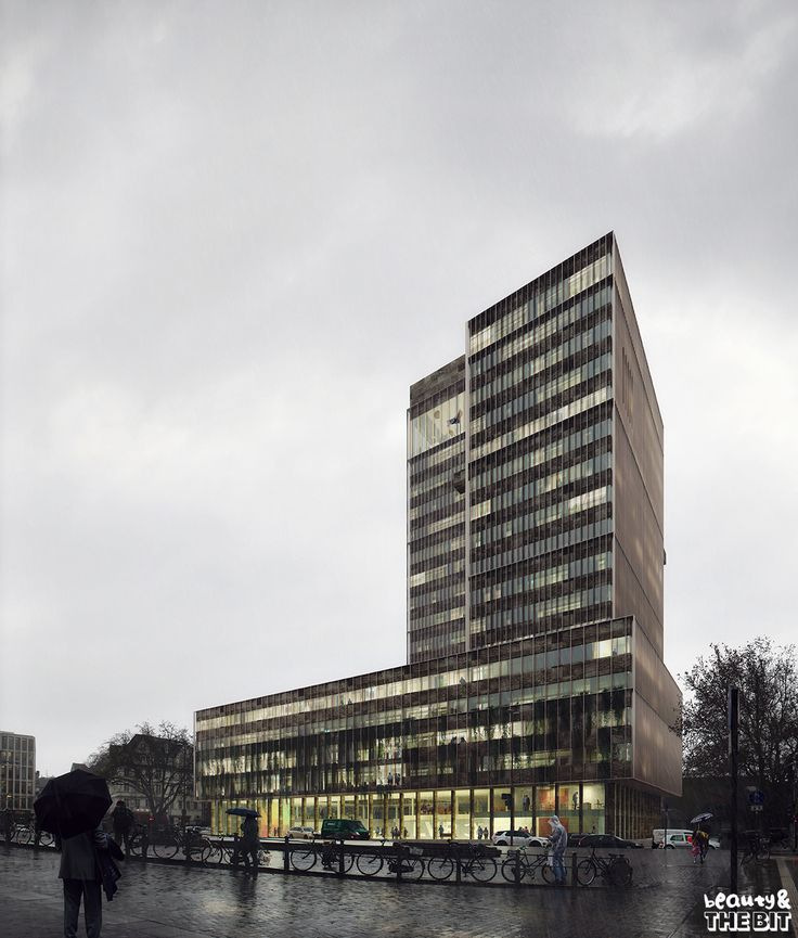 Office Building Competition in Koln, Kaan Architecten, Germany, 2017