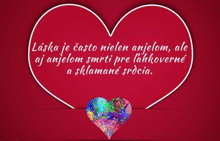 Láska je často nielen anjelom...