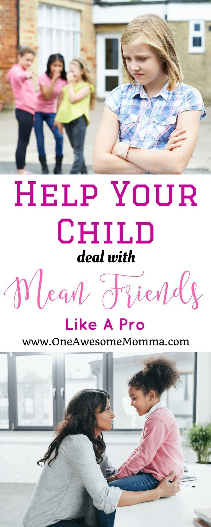 As a parent, one of our worries is what to do when someone is mean to your child. Find out how to help your child deal with mean friends like a pro. #motherhood #parenting | how to deal with mean friends | how to deal with mean people | how to deal with mean girls at school | how to deal with mean girls tips | teachable moments | mom problems | mom struggles | life lessons for kids | advice for kids | advice for kids life | advice for kids children | mean kids how to deal | mean kids