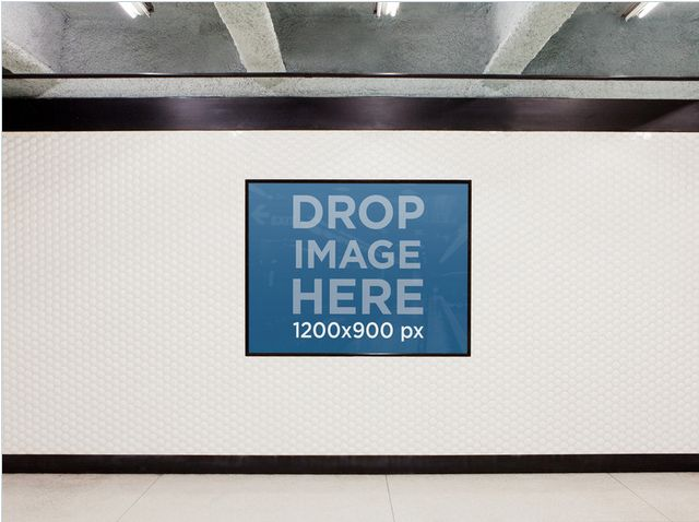 Ad set on Subway Wall. Try it out at: https://placeit.net/c/print/stages/ad-on-the-subway