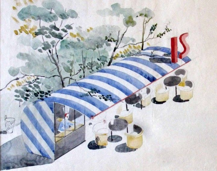 Arne Jacobsen - Bar à glaces, plage Bellevue