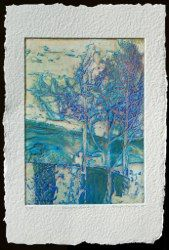 Primeval Land V, collagraph edition 100 image 27x37, paper 56x38cm <br />unframed£196