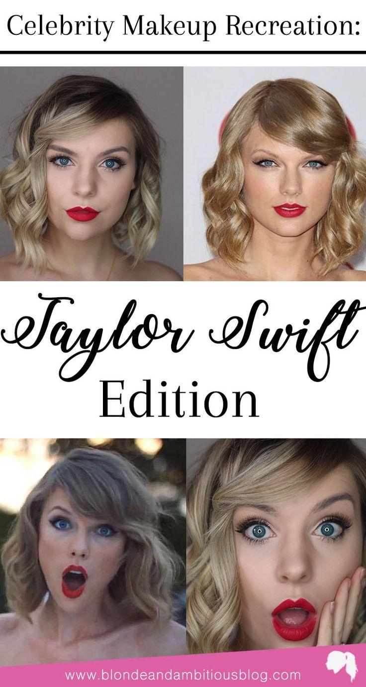 Celebrity Makeup Recreation: TAYLOR SWIFT EDITION! | celebrity look a like, Taylor swift twin, Taylor swift look a like, Taylor swift, 1989, red, reputation, fearless, Taylor swift makeup, Taylor swift style, Taylor swift hair