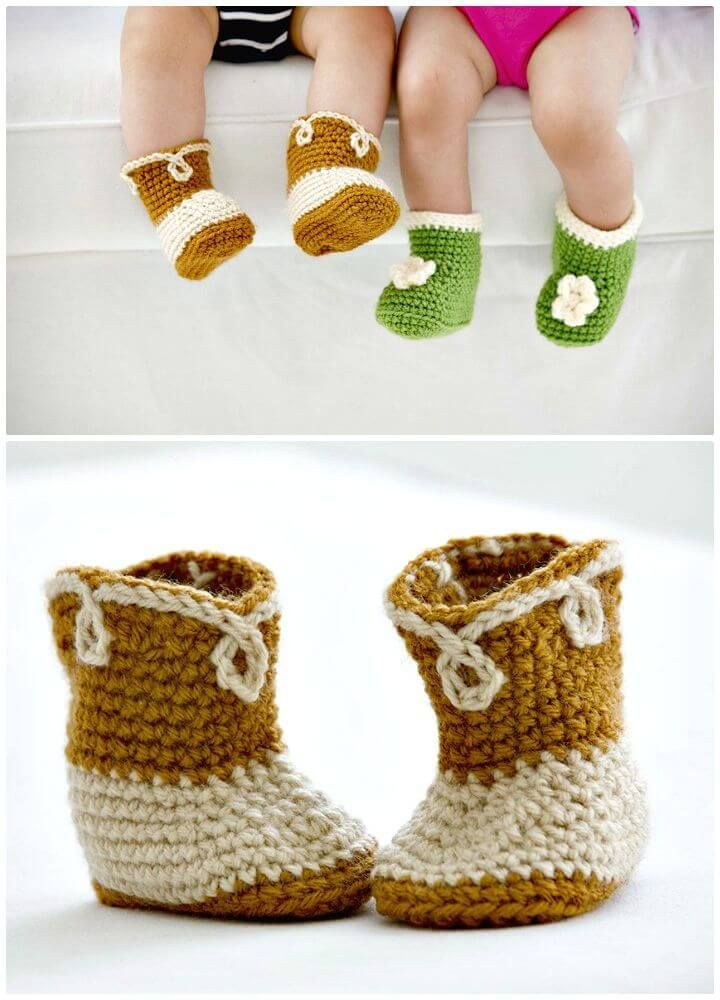 How To Crochet Cowboy Booties Pattern - 7 Free Crochet Cowboy Boots Patterns - DIY & Crafts