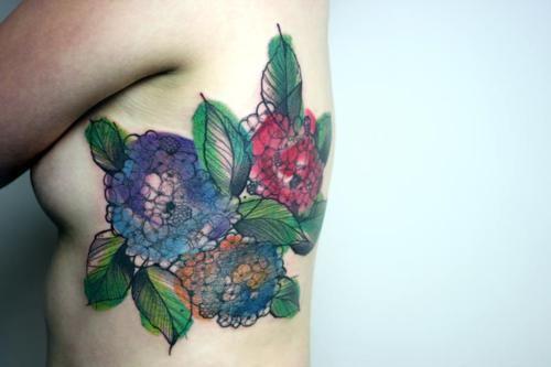 peter aurisch hydrangea tattoo