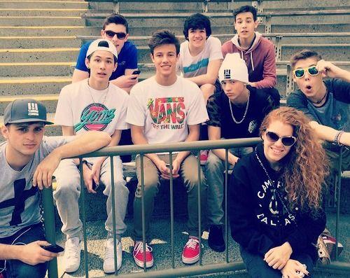 Cameron Dallas,Jacob Whitesides,Matthew Espinosa, Carter Reynolds,Taylor Caniff,Shawn Mendes,Aaron Carpenter and DJ Mahogany Lox ♥