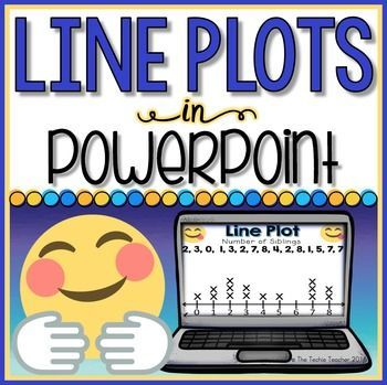 Kids are obsessed with emojis!  They will have a blast with this emoji themed line plot practice in PowerPoint.This PowerPoint activity is intended for practicing or reviewing line plot graphing when the slideshow is in editing mode, not presentation mode.Slide 1: Title PageSlide 2: DirectionsSlides 3-7: Students use the data listed at the top to create a line plot by drag and dropping the Xs in the lower left hand cornerSlides 8-10: Students use the completed line plot to fill in the data…
