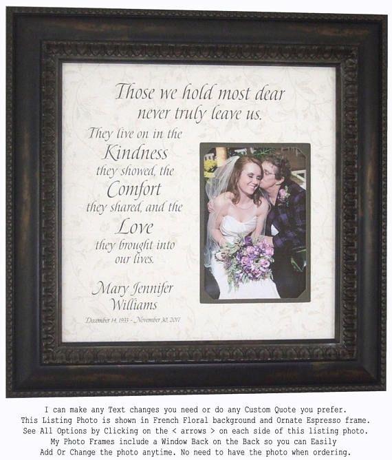 Memorial Gift, In Memory Of mom, Personalized Memorial Frame ...