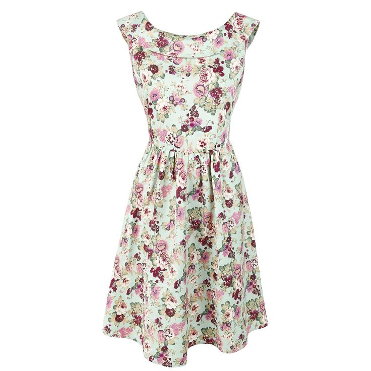 Cindy Sassy Floral Swing Vintage Dress - Mittellanges Kleid von Dolly and Dotty