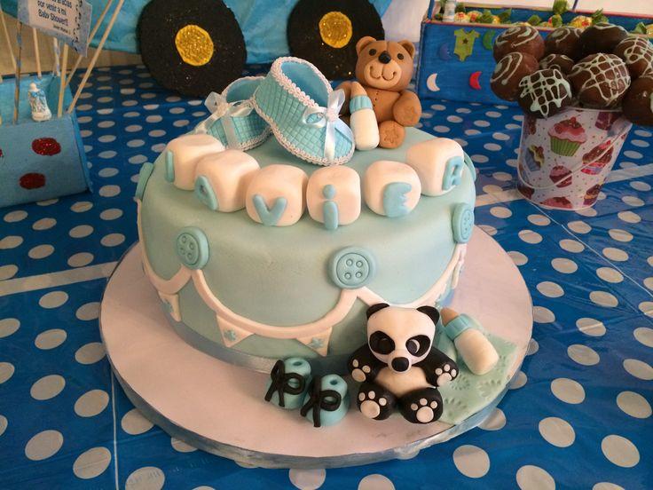 Torta forrada para baby shower
