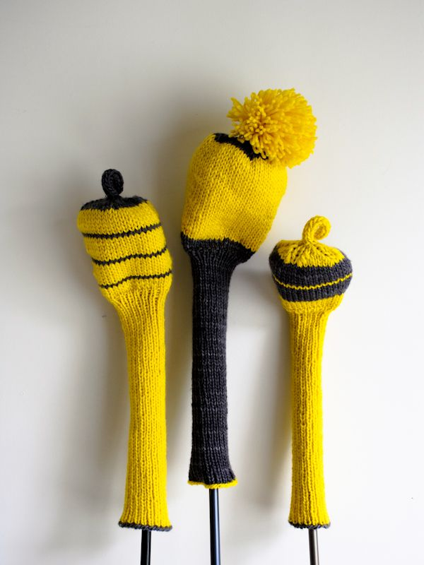 Laura's Loop: Knit Golf Club Covers - Knitting Crochet Sewing Crafts Patterns and Ideas! - the purl bee