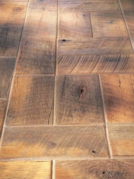 Reclaimed barnwood bricks love the look of this floor for Brick flooring prices