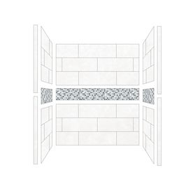 American Bath Factory Laguna Shower Wall Surround Side And