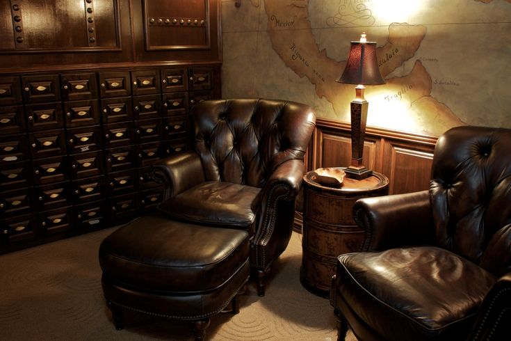 - Cigar Lounge Mancave Pinterest Chairs, Leather And The Wall