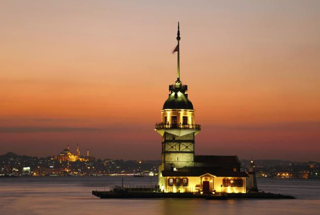 Istanbul, Turkey  His most photographed place: Tower Maiden's Tower