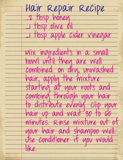DIY Hair Repair