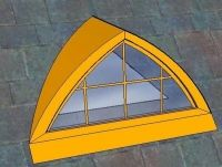 Arched Triangle Dormer Light - Copper