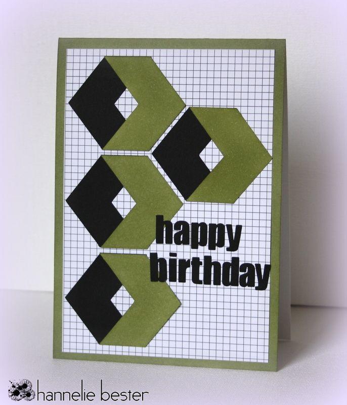 desert diva: Another masculine birthday card.                                                                                                                                                      More