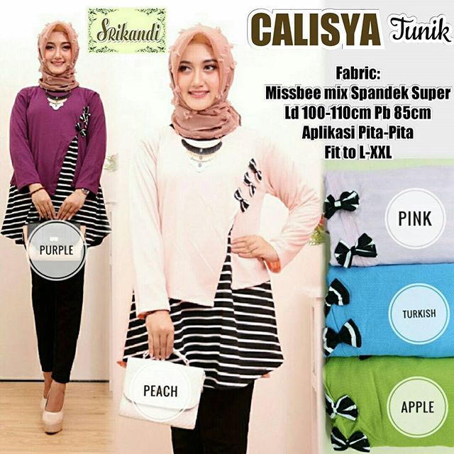 CALISYA TUNIK  Matt :  Missbee Mix spandek super   Detail :  Aplikasi pita  Good Quality  Harga : 95.000    #khimarmurah #maximurah #gamis #gamismurah #syari #muslim #muslimahfashion #jilbabgrosir #jilbab #ootd #hijab #trend #like4like #l #hijabmurah #jeans #kulot