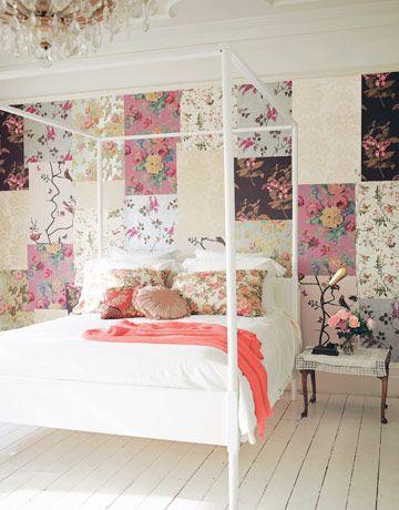 floral patchwork walls... love it