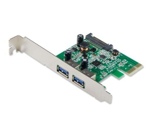Syba USB 3.0 2 port PCI-Express x1 Card with SATA Power Connector (SY-PEX20124) by Syba. $14.98