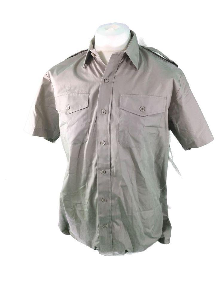 British army surplus short sleeved STONE coloured shirt GRADE 1