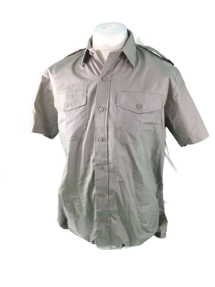 British army surplus short sleeved STONE coloured shirt GRADE 1