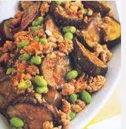 terung tumis daging cincang