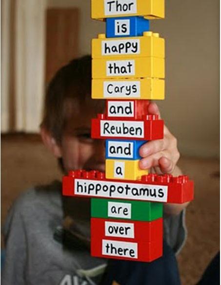 Lego Block sentences - good word work activity