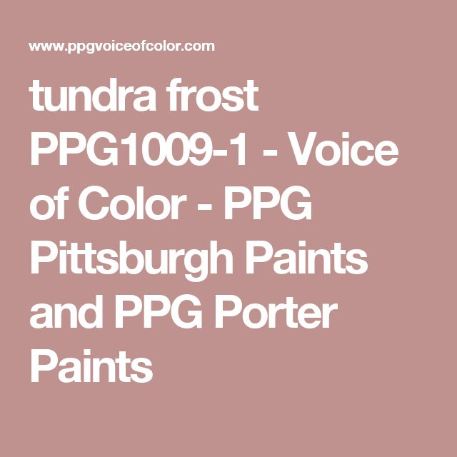 Tundra Frost Ppg1009 1 Paint Colors Ppg Paint