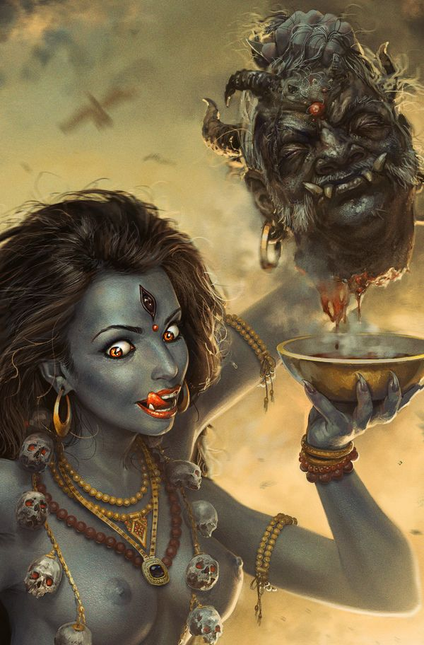 goddess Kali by George Redreev, via Behance