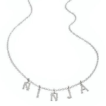On @Eryn Paul Patton's wish list--my WENDYB silver NINJA Letter Necklace